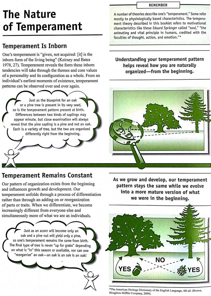The Nature of Temperaments