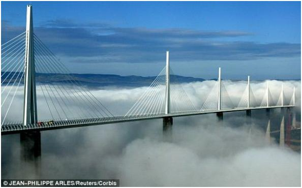 Millau cable stayed bridge